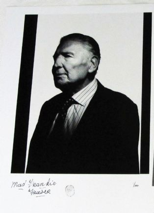 Frankie Fraser signed Photo 12 x16.5 (300 x420mm) approx overall sizes  Limited edition